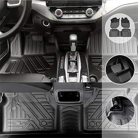 Gengcan Auto Fußmatten Gummimatten Für Volvo Xc60 2018 2021 5 Seat Allwetter Tpe Fußmatten Antirutsch Premium Qualität Bodenmatten Passgenaue Gummifußmatten Stil A Schwarz Auto