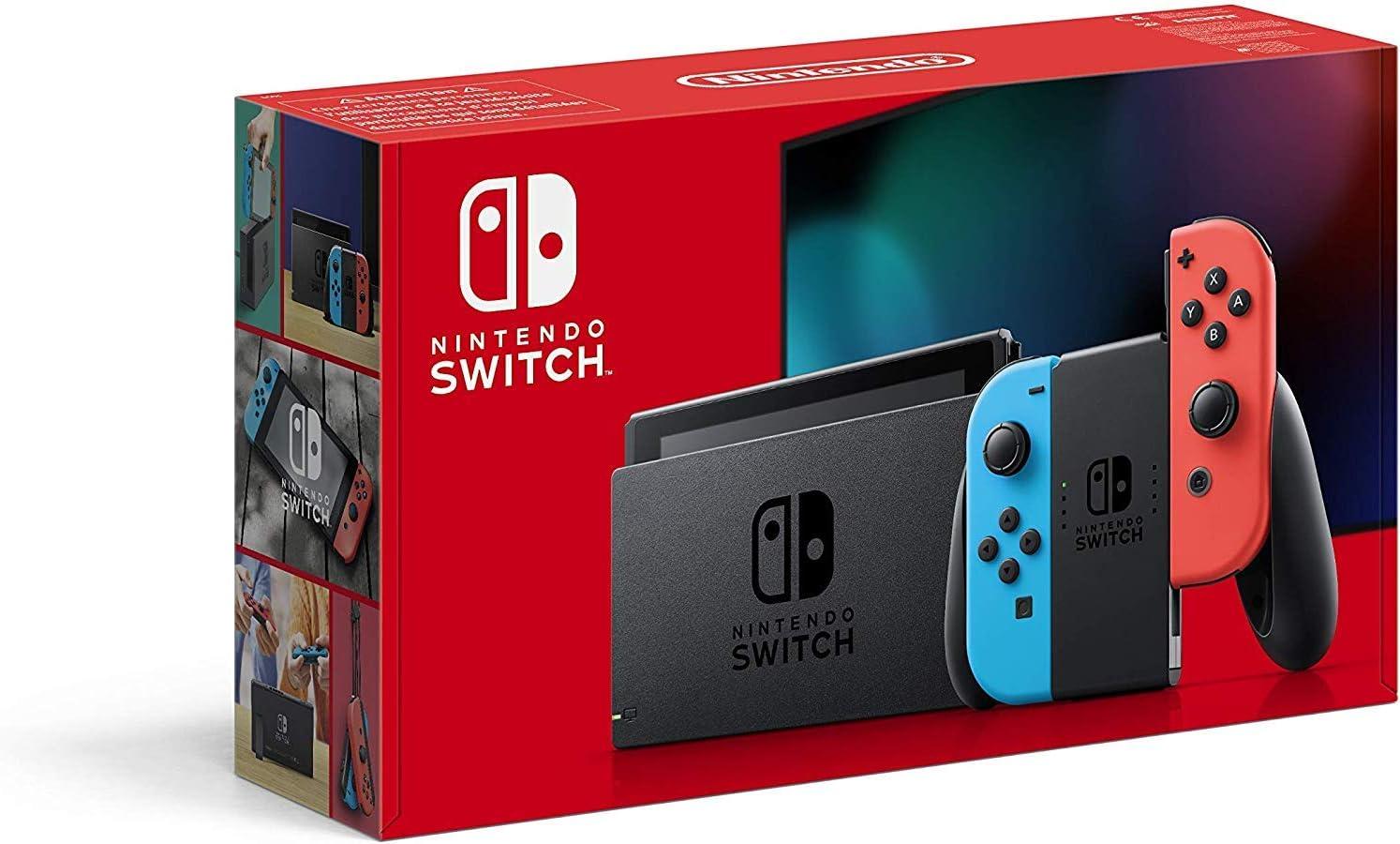 Nintendo Switch - Consola color Azul Neón/Rojo Neón (Modelo 2019 ...