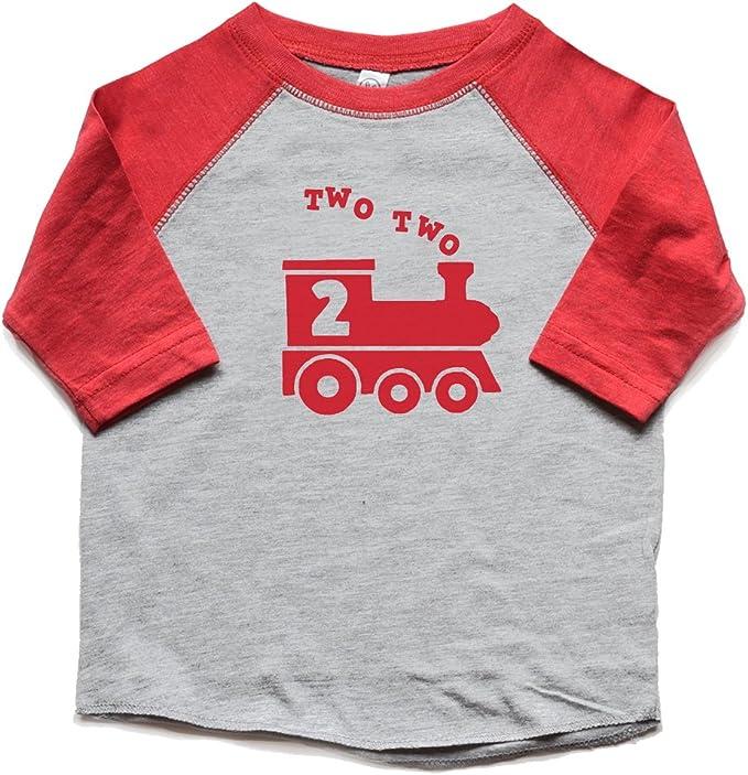 Amazon.com: Dos dos tren 2 nd cumpleaños de camisa Boy ...