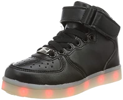 afcd90075ca Lekuni LED Chaussures Unisexe Homme Femme Lumineux Sports Baskets 7 Couleur  USB Charge LED Chaussures Lumiere
