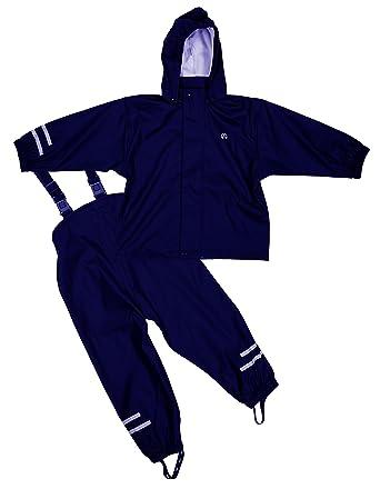 Unbekannt Elka Traje para Lluvia Pantalones + Chaqueta para niños ... 73c5e4c2308