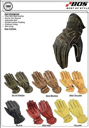 8f1e23f27c204b Motorradhandschuhe Tour Leder Motorrad Chopper Vintage Leder Handschuhe (L,  Wachs Braun)