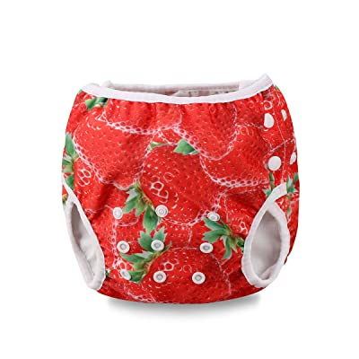 Baby Boy Girl Swim Diapers Washable Bathing Suits Fashion Adjustable Baby Swimsuits 0-2T