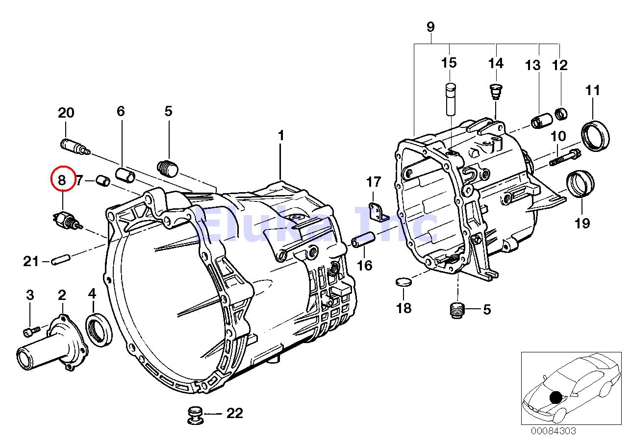 Bmw Oem Back Up Reverse Light Switch M12x15 E31 E34 E36 Smg Wiring Diagram E39 E46 E60 E88 E89 850ci 850csi 525i 530i 535i 540i M5 36 318i 318is 318ti 320i