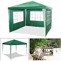 Carpa de jardín para fiestas impermeable de 3 x 3 m de HG®, carpa para eventos, camping o asociaciones de alta calidad…
