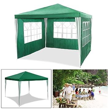 HG® 3 x 3 m Jardin Tonnelle Tente Stabilepartyzelte étanche Jardin Camping  tente SG tubes d\'acier stable de haute qualité Chapiteau vert