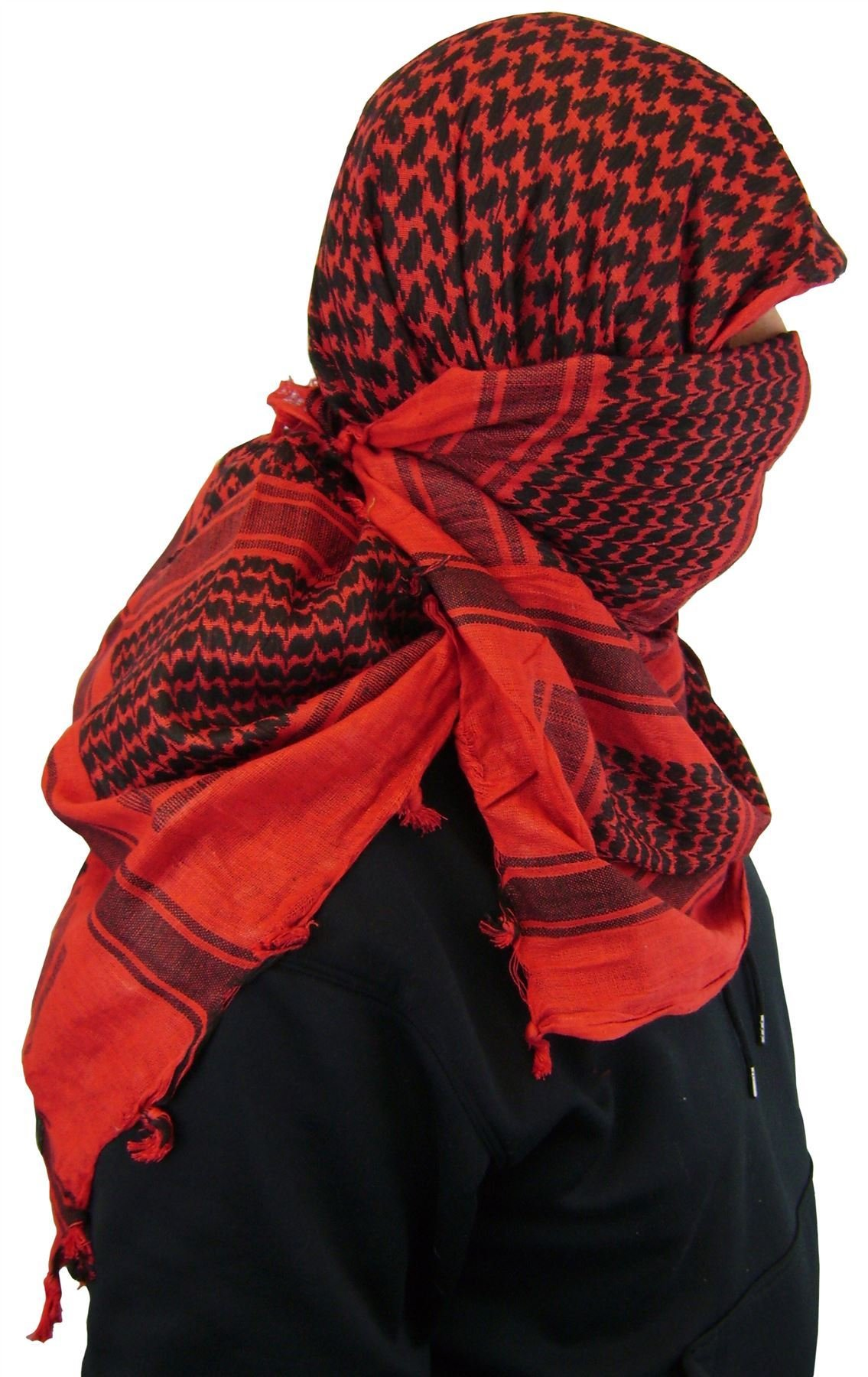 Maddog Sports Shemagh Tactical Desert Scarf - Red / Black by MAddog