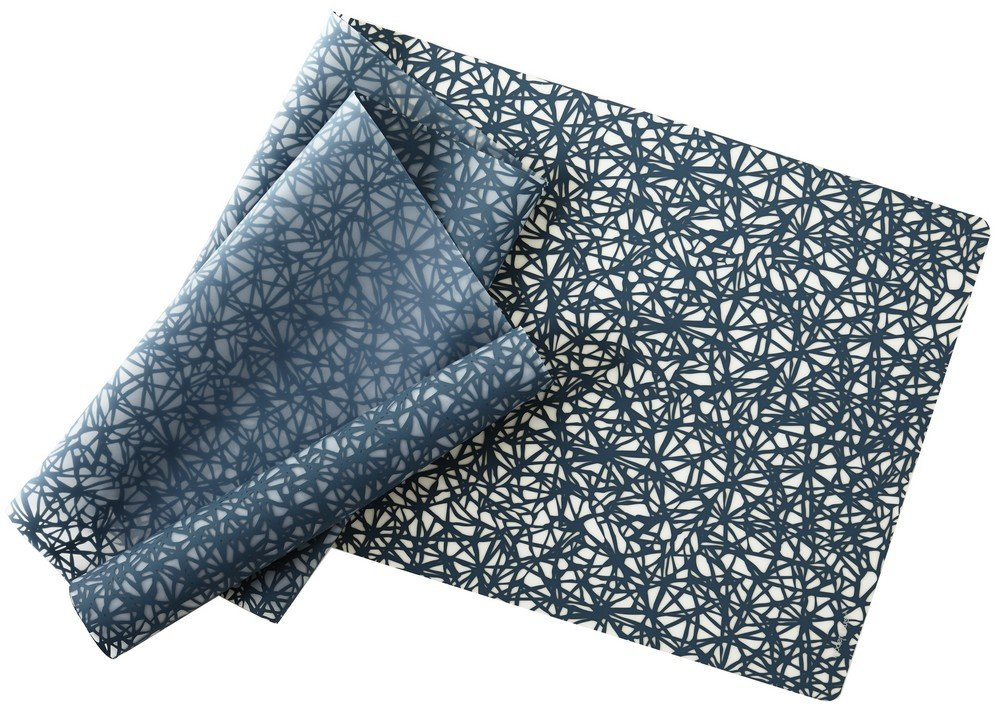 modern-twist Silicone Table Runner, 72'' x 14'', Twine Pattern, Midnight Blue
