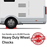 SECURITYMAN 2 Pack Wheel Chocks - Constructed of