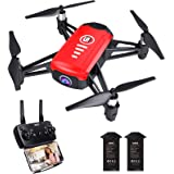 SANROCK H818 Drones for Kids, Mini Quadcopter with 720P HD Real-time Camera, Support Altitude Hold, Route Mode, Gesture…