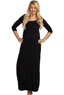 82e7632424 PinkBlush Maternity Crochet Sleeve Maxi Dress at Amazon Women s ...
