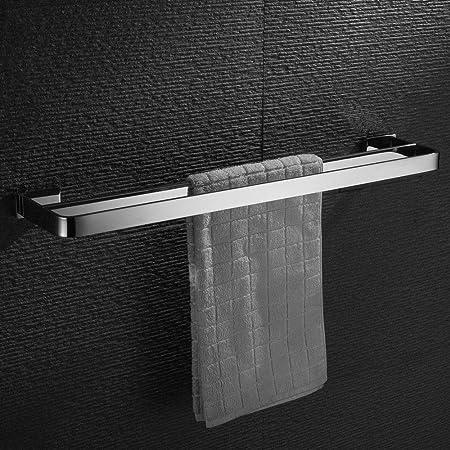 Homovater SUS304 Edelstahl Handtuchstange Single Badezimmer Handtuchhalter Wand Bad handtuchhalter Zeitgen/össischer Stil Poliert 60cm