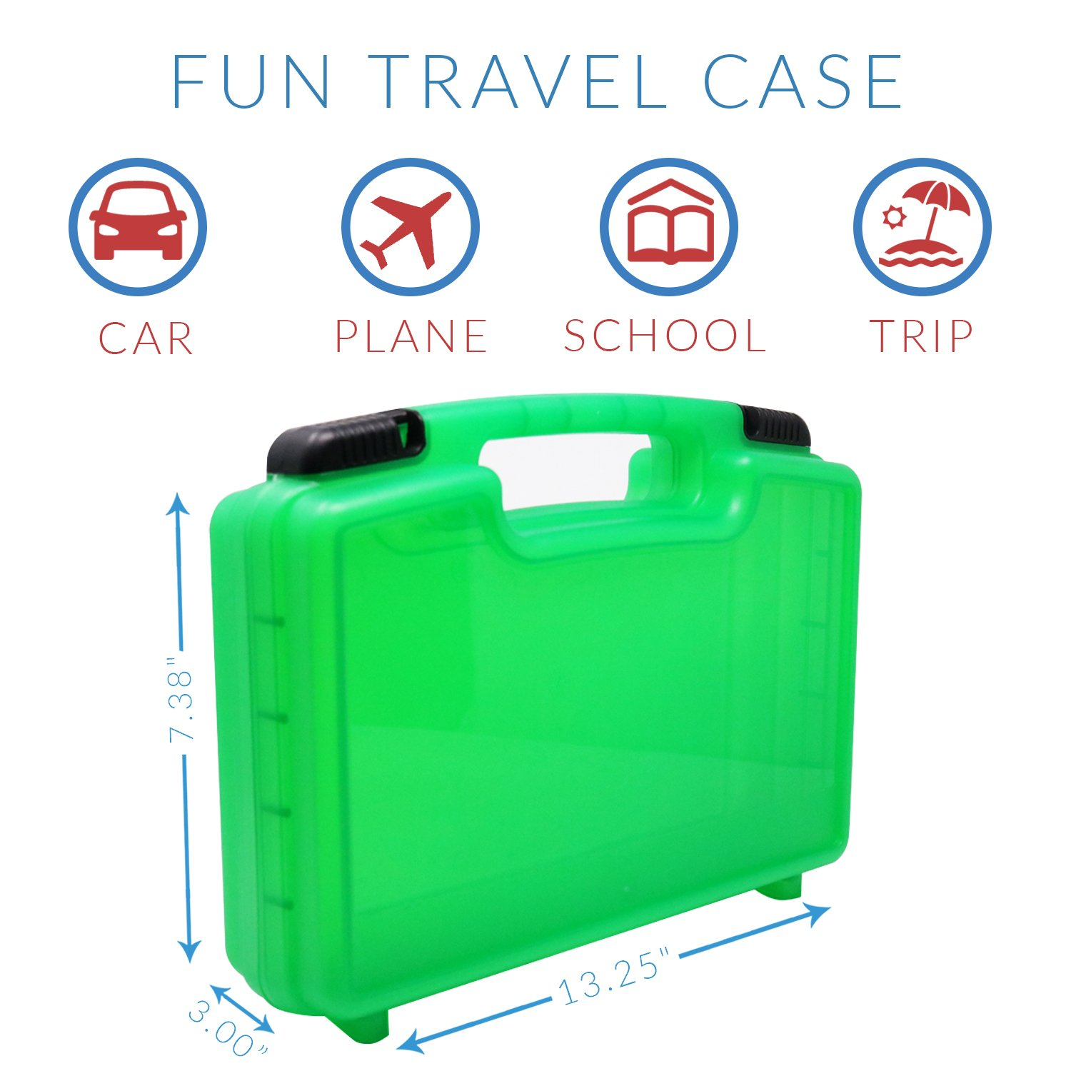 Green LMB149 Figurines and Accessories Organizer and Carrying Case Life Made Better Daniel Tiger Case