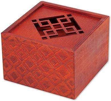 Bits and Pieces - Caja de Rompecabezas Secreta del Emperador, Rompecabezas de Madera, Compartimento Secreto, Juego de Cerebro para Adultos, Guarda Tus Objetos de Valor: Amazon.es: Juguetes y juegos