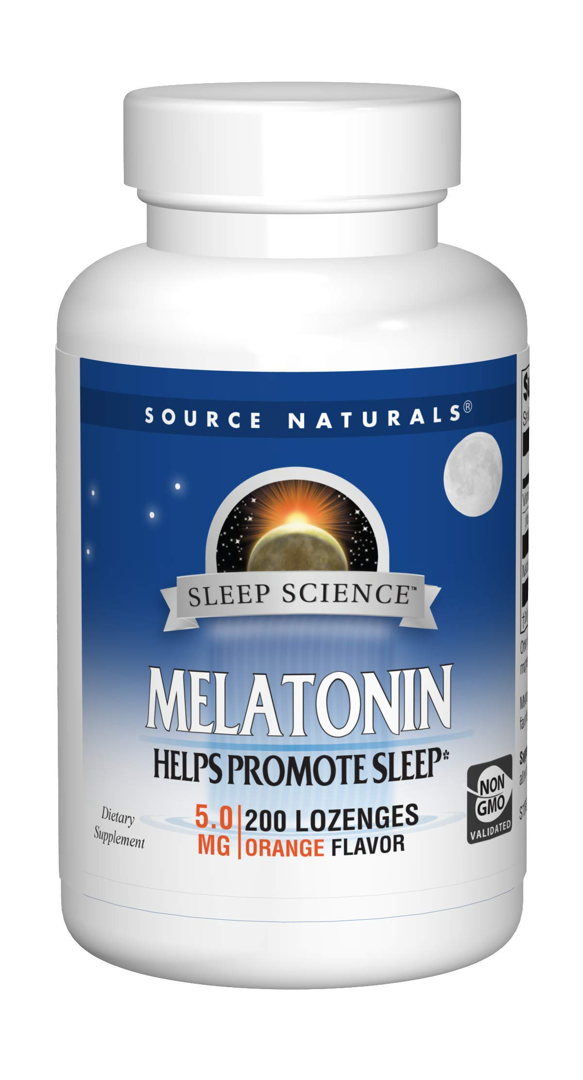 Source Naturals Sleep Science Melatonin 5mg Orange Flavor - 200 Lozenges by Source Naturals