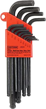 13-Piece Craftsman 9-46754 Standard SAE Hex Key Set