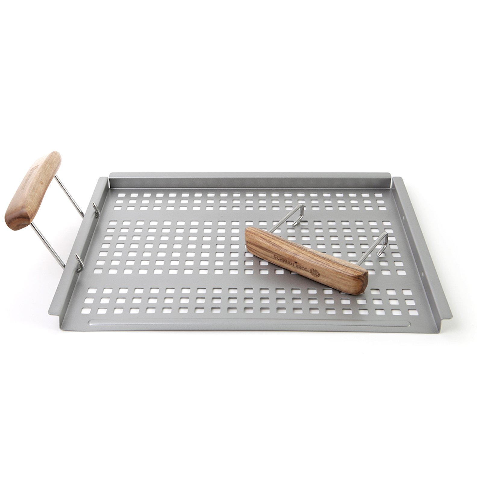 Schmidt Brothers BBQ Stainless Steel Grab & Grill Flat Grill Tray
