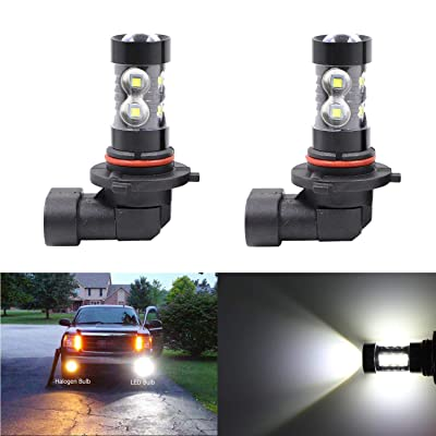 H10 9145 9045 9040 9140 9145 Fog Light Bulbs 50W 6000K 10 SMD LED High/Low Beam Super Bright White Xenon Car DRL Daytime Running Light,Set of 2: Automotive [5Bkhe0416528]