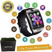 Reloj Inteligente Mujer Hombre Smartwatch Pulsera de Actividad Inteligente con Pantalla Táctil Ranura para Tarjeta SIM Cámara para iPhone Samsung Xiaomi Huawei Android Hombre Mujer Niños (Plata)