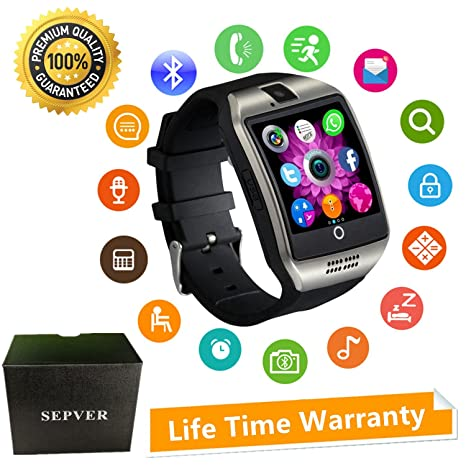 Amazon.com: Smart Watches SEPVER SN06 Smartwatch Sport Fitness tracker Wrist Watch with SIM Card Slot Camera Touch screen Pedometer Compatible Android Smart ...