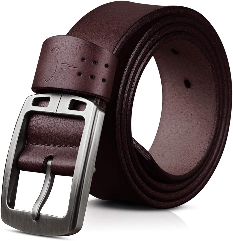 DORRISO Fashion Men Genuine Leather Belts Large Wide Belt Travel 120-150CM Belt