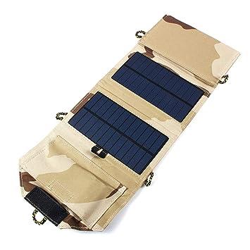 5 V 7 W Cargador Solar portátil Plegable Cargador de Panel ...