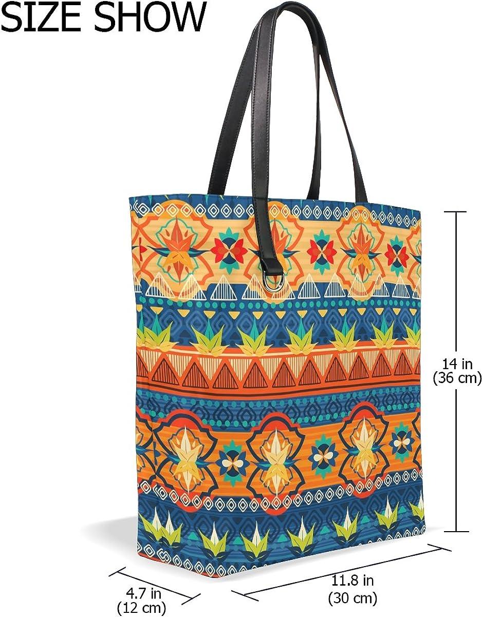 Handbags for Women Africa Art Nation Custom Tote Shoulder Bag Satchel for Ladies Girls