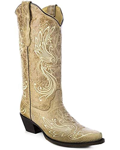 3f3f6ffa158 Image Unavailable. Image not available for. Color  CORRAL Women s All Over Embroidered  Cowgirl Boot ...