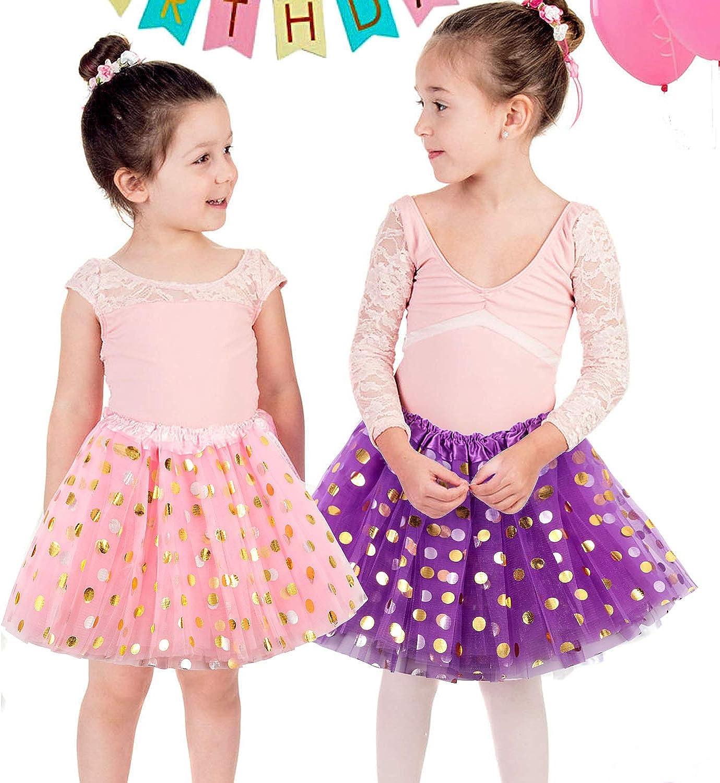 Tacobear 6pcs Tutu Skirts for Girls Sequin Ballet Tutu Pink Red Neon Black White Tutu for Kids Girls Dance Performance Birthday Princess Party