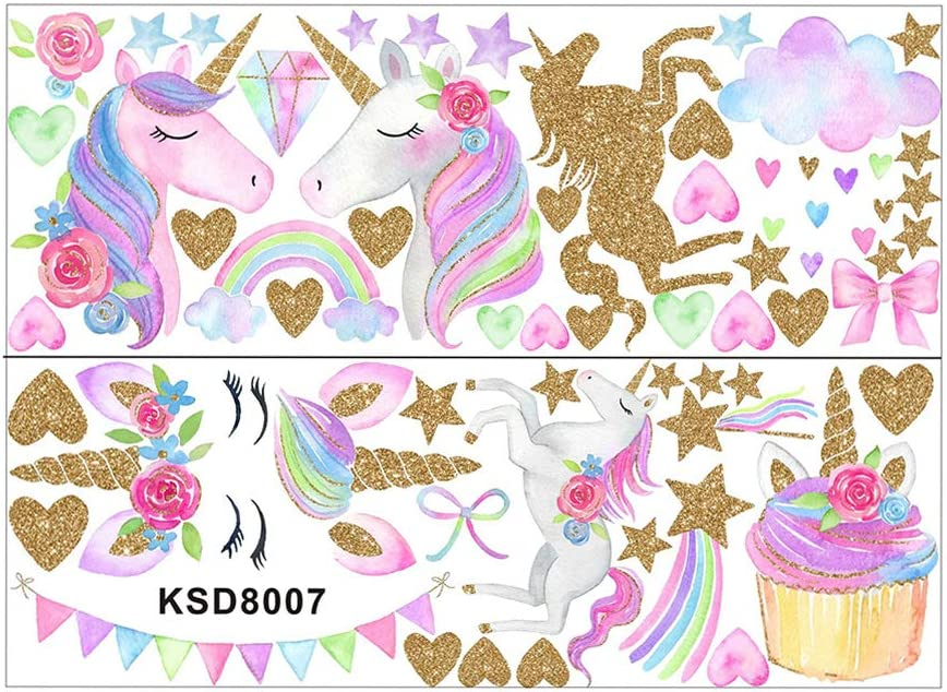 STOBOK sticker mural licorne sticker mural d/écor stickers muraux coller autocollant de d/écoration pour chambre salon