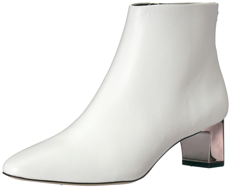 Calvin Klein Women's Mimette Leather Ankle Boot B073GZL1DF 6 B(M) US|White