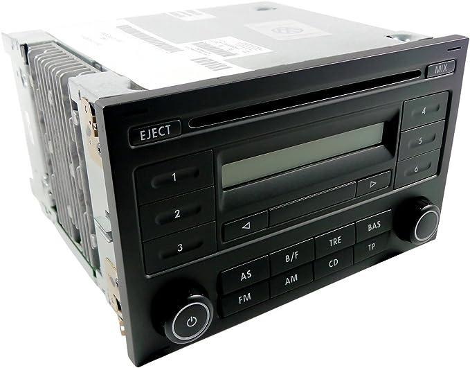 VW Transporter T5 auto estéreo unidad principal con el código de radio VW RCD 210 CD MP3 Player