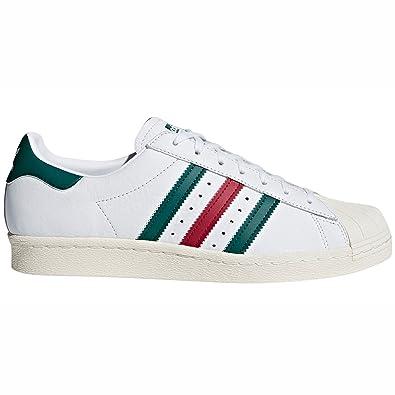 adidas Originals Superstar 80 Blanc pour Hommes, Cuir,Baskets (42 2 3 7c3914b15ecd