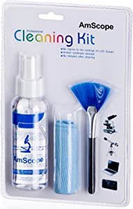 AmScope CK-I 3 in 1 LCD Professional Cleaning Kit for Laptop, TV, Monitor and Camera Lens