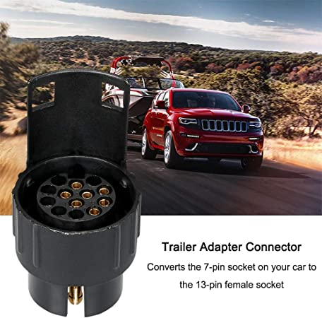 13 Pin Car To 7 Pin Trailer Adapter Plug Converter Tow Bar For Euro UK Car Truck