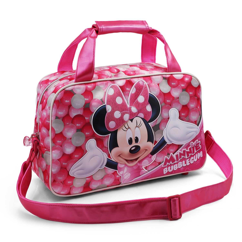 Karactermania Minnie Mouse Bubblegum Bolsa de Deporte Infantil, 38 cm, Rosa 36219