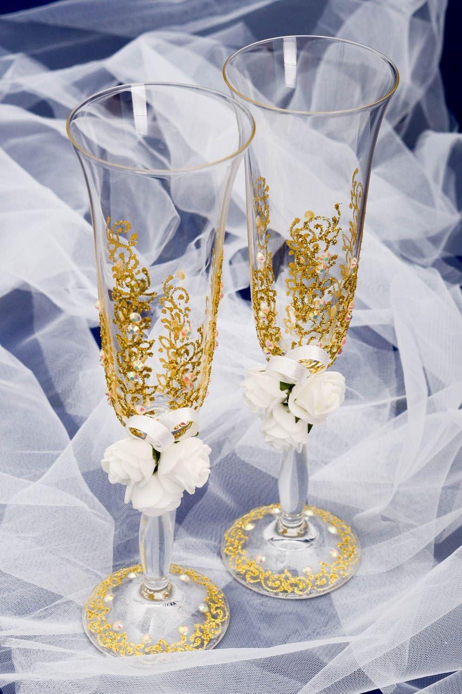 Copas para brindis artesanales accesorio para boda copas de novios ...