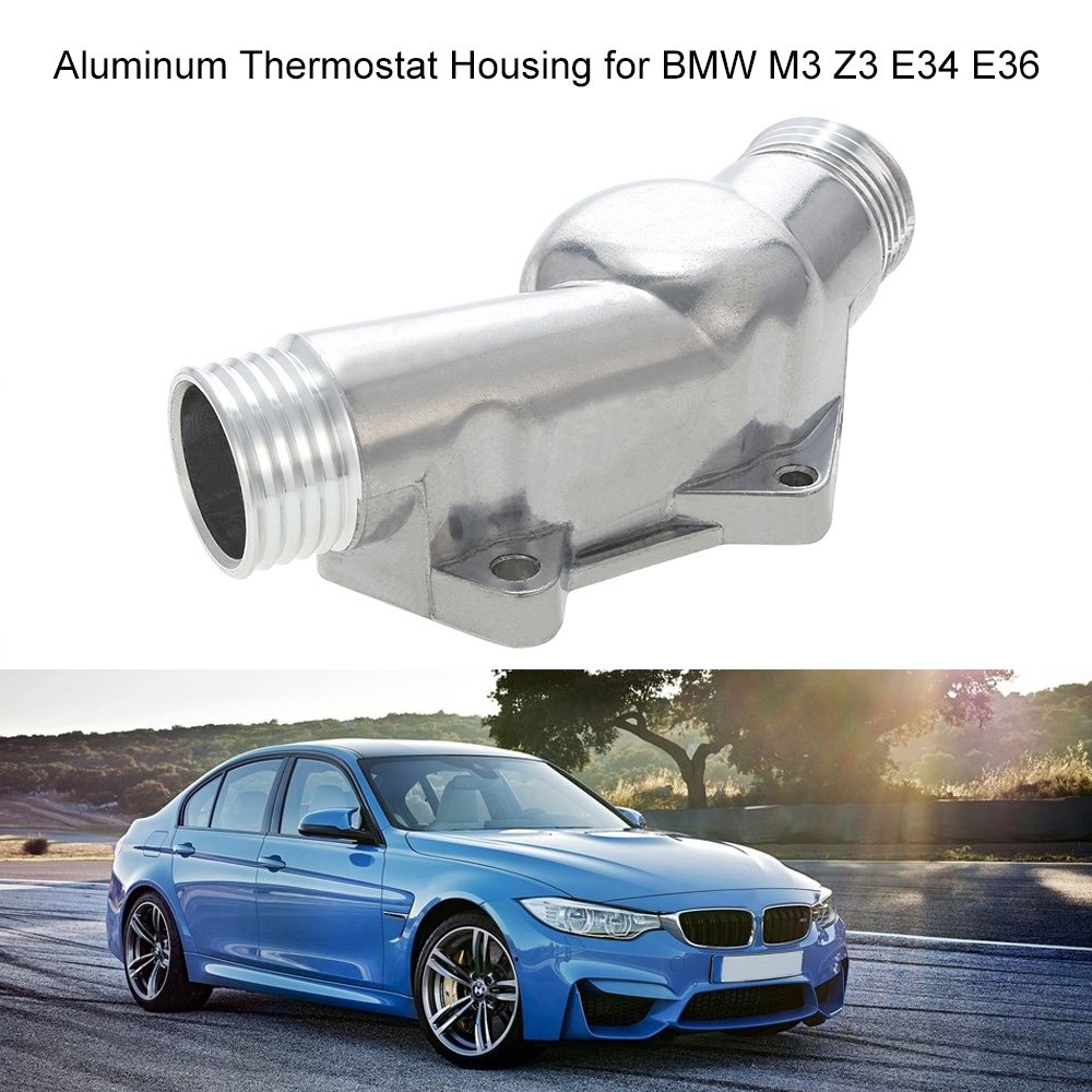 Kkmoon Aluminum Thermostat Housing Cover With Gasket Bmw E34 Fuel Filter Location Car Motorbike