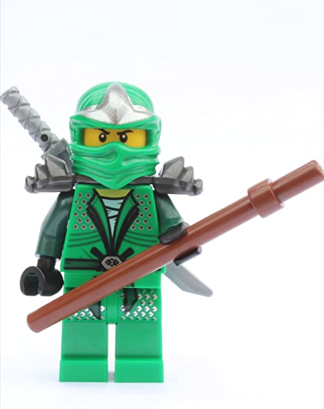 LEGO NinjagoTM Lloyd ZX (Green Ninja) with Weapons: Amazon ...