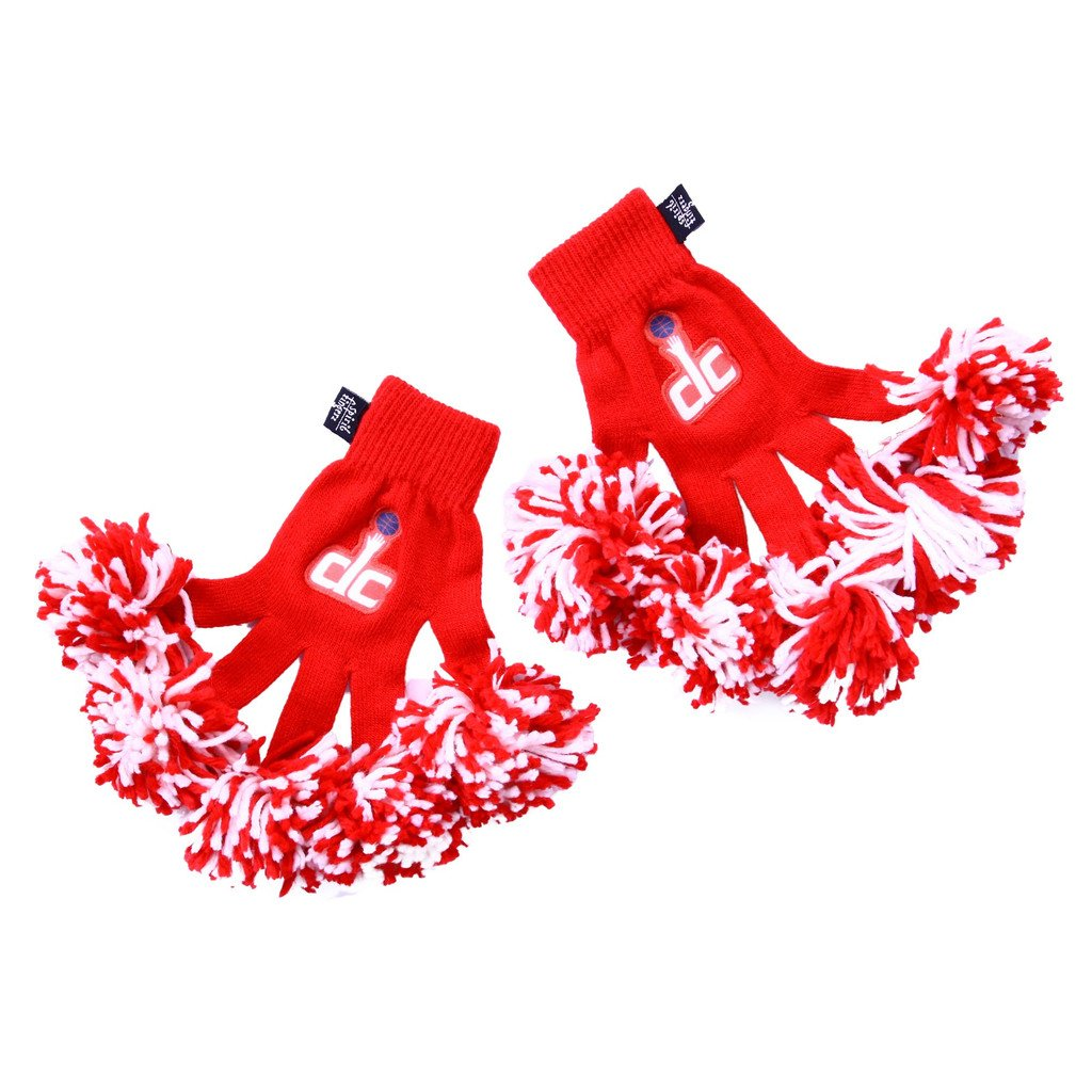 NBA Washington Wizards Embroidered Spirit Fingerz Pom Pom Gloves