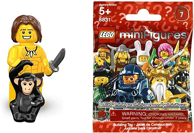 New Lego Jungle Boy 8831 Collectible Minifigure Series 7
