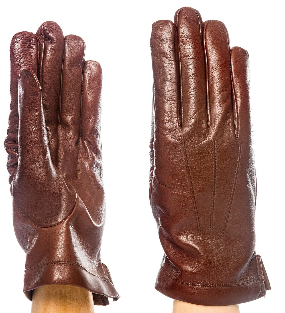 Parisi Gloves - Italian Leather Gloves for Men - Unlined - Spring/Summer Edition - MADE IN ITALY - 3cfsf (9½, Cognac)