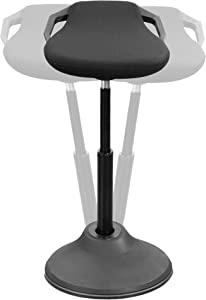VIVO Sit Stand Perch Stool for Home and Office, Non-Slip Wobble Desk Chair, Adjustable Standing Bar Stool, Active Sitting Balance Chair with Padded Seat, Black (CHAIR-S01P)