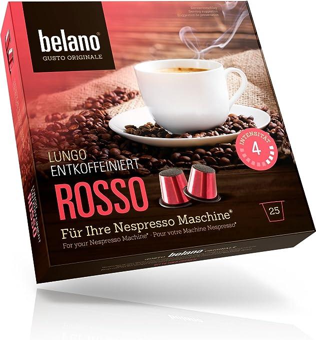 Belano 25x cápsulas de café compatibles con cafetera Nespresso ...