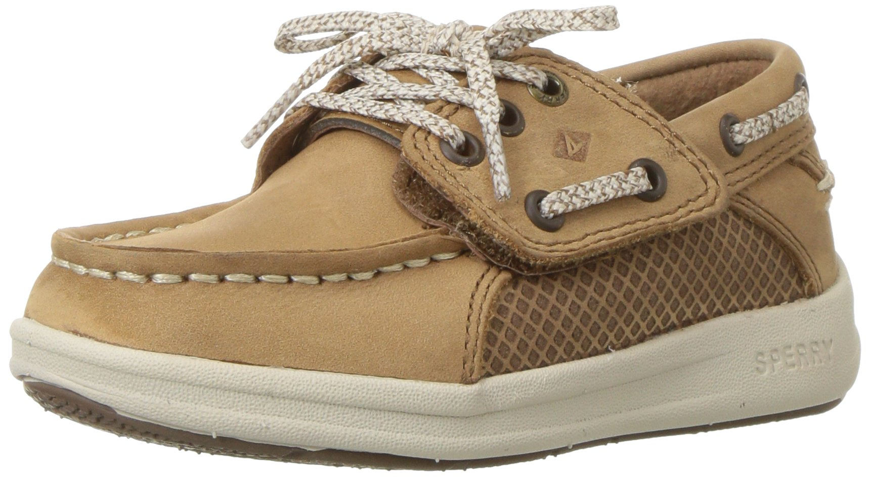 Sperry Gamefish A/C Boat Shoe (Toddler/Little Kid), Dark Tan, 6.5 Wide US Toddler by Sperry