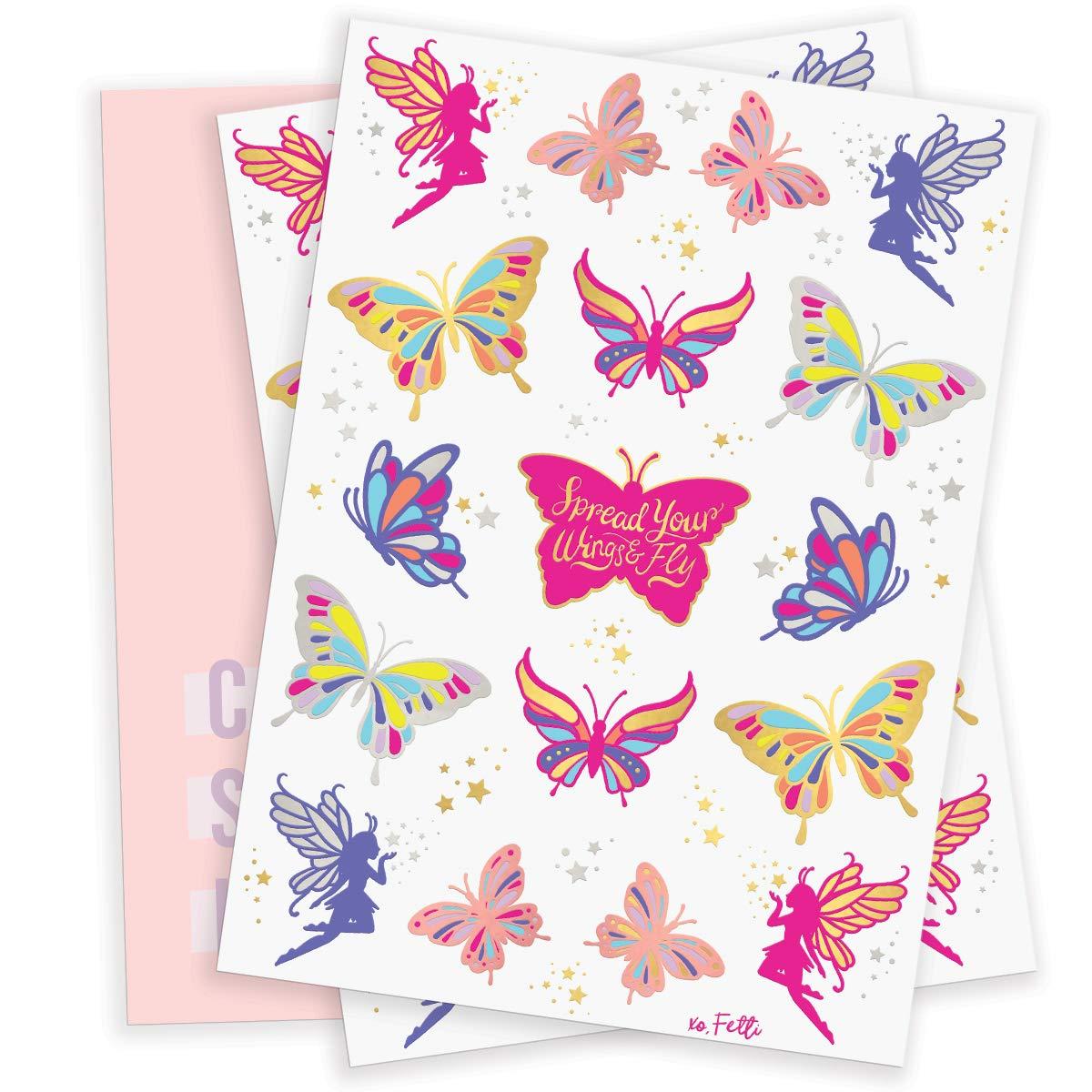 Amazon.com: Tatuajes de mariposa Fetti para niños, 50 ...