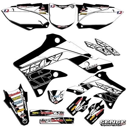 Motorcycle & ATV Motorcycle & ATV Mayhem White Graphics Kit Senge Graphics 2008-2018 Kawasaki KLX 140