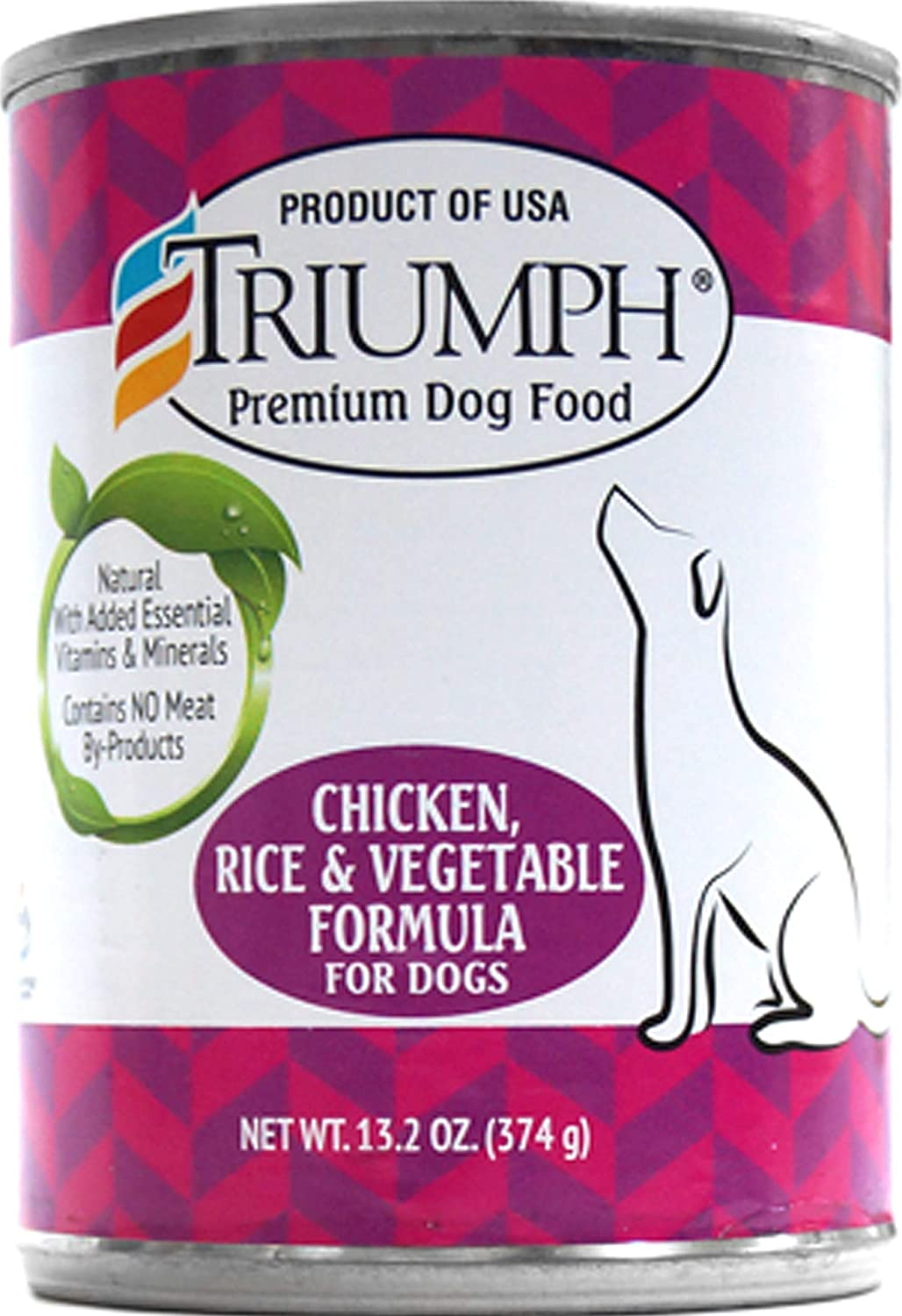 Triumph Chicken, Rice & Vegetables Dog Food - 12X13.2 Oz