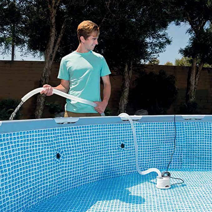 Intex 28606 - Bomba drenaje para piscina con manguera de 5 metros ...