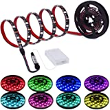 Led Strip Lights Battery Powered RGB LED Lights Strip Battery Operated Led Battery Lights with 3 Keys Controller Battery…